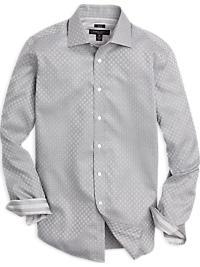 Pronto Uomo Gray Weave Pattern Modern Fit