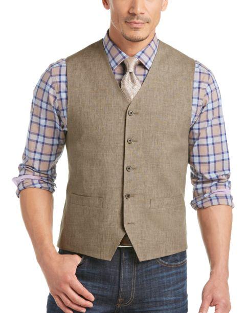 100% Linen Vest Modern Fit - Men's Vests - Joseph Abboud | Men's ...