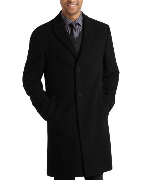 Calvin Klein Black Classic Fit Car Coat - Men's Topcoats | Men's ...