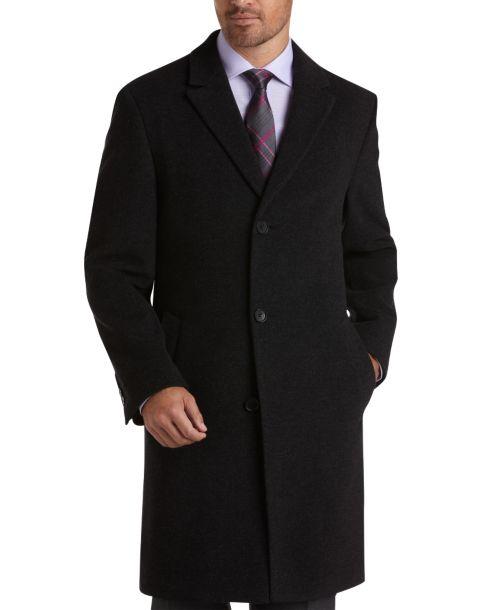 Calvin Klein Charcoal Classic Fit Car Coat - Men's Topcoats ...