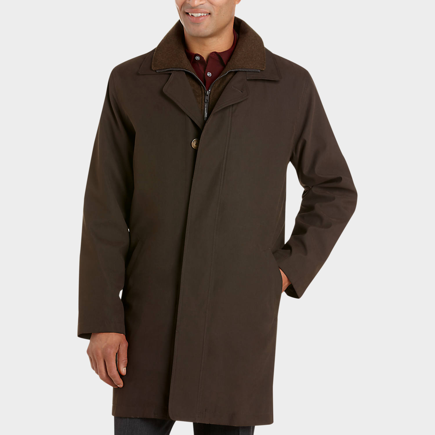 Lauren by Ralph Lauren Olive Classic Fit Raincoat - Men's ...