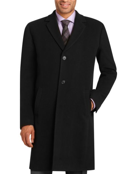Kenneth Cole New York Black Wool and Cashmere Topcoat - Men's ...