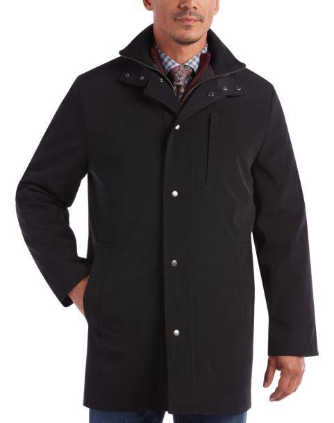 Joseph Abboud Black Modern Fit Raincoat - Men's Raincoats   Men's ...