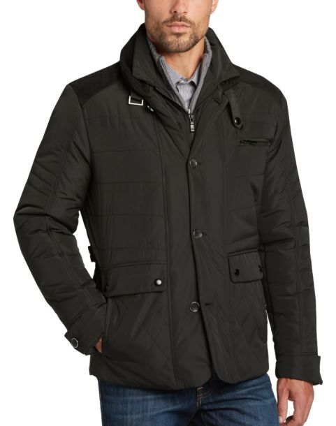 Pronto Uomo Black Modern Fit Quilted Jacket - Men's Casual Jackets ...