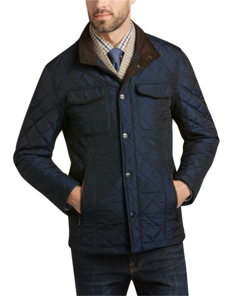 Pronto Uomo Navy Quilted Modern Fit Jacket Men S Casual