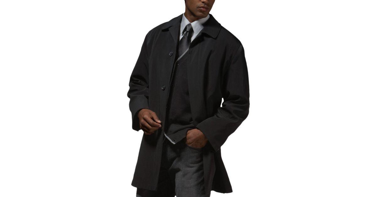 Calvin Klein Black Classic Fit Raincoat - Men's Raincoats | Men's ...