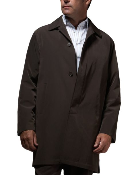 Calvin Klein Brown Classic Fit Raincoat - Men's Raincoats | Men's ...