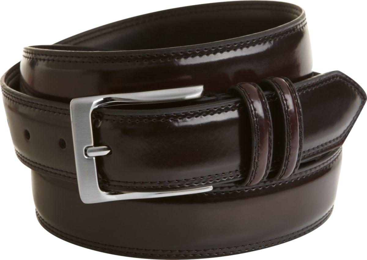 s wearhouse burgundy high gloss leather belt s