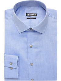 Kenneth Cole Unlisted Blue and White Stripe Slim Fit Dress Shirt (Outlet)