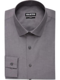 Kenneth Cole Unlisted Graphite Chambray Slim Fit Dress Shirt (Outlet)