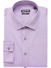 Kenneth Cole Unlisted Lavender Chambray Slim Fit Dress Shirt (Outlet)