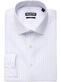 Kenneth Cole Unlisted Lavender and Blue Stripe Slim Fit Dress Shirt (Outlet)
