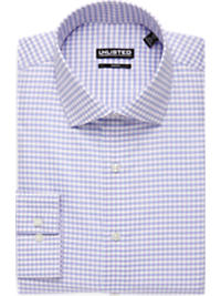 Kenneth Cole Unlisted Plum Check Slim Fit Dress Shirt (Outlet)