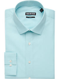 Kenneth Cole Unlisted Teal Check Slim Fit Dress Shirt (Outlet)