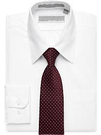 Michael Kors White Shirt & Burgundy Polka Dot Tie Set (Outlet)